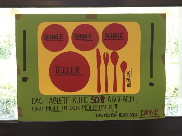 lunchroom signage at jade