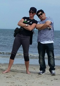 claudia and hector. thug life at the beach.