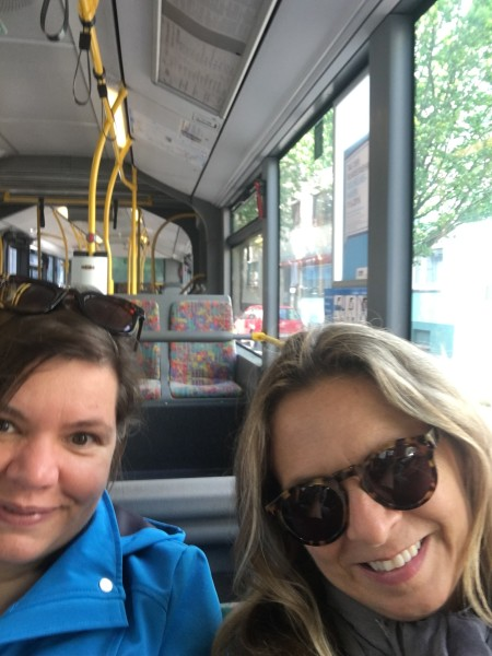 andrea & lisa selfie on the last bus ride