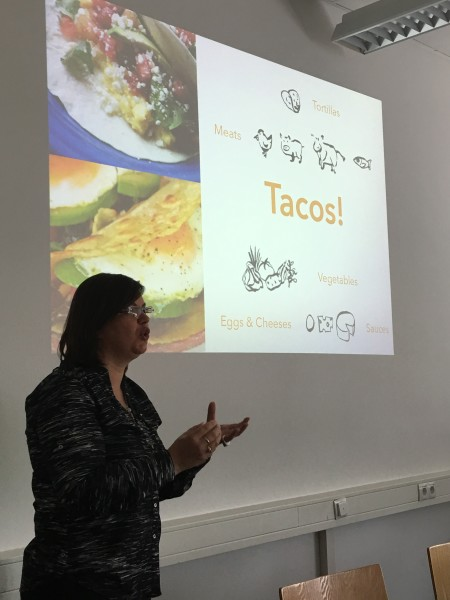tacos > coffee for Andrea's flavorful branding